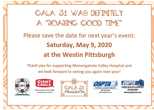 Annual Gala Event - Monongahela Valley Hospital Foundation